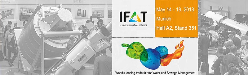 Meet us at IFAT 2018: Hall A2, stand 351