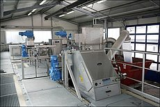 Coarse and ultra-fine screening at STP Glessen / Germany